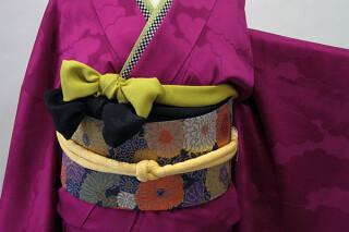 振袖無地(紫色)RF-97の衣装画像2