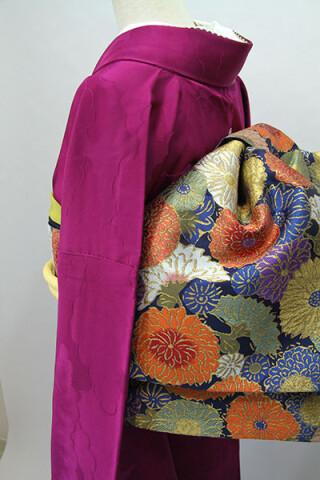 振袖無地(紫色)RF-97の衣装画像3