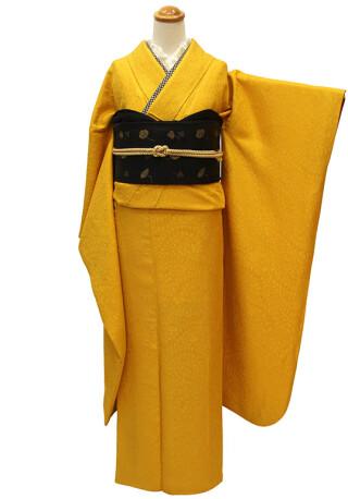 振袖無地(黄色・からし色)RF-160の衣装画像1