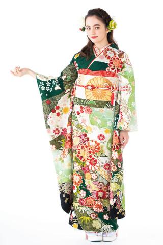 京都友禅競技大会受賞作品の衣装画像1