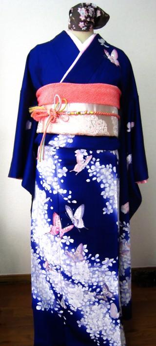 紺「蝶々」