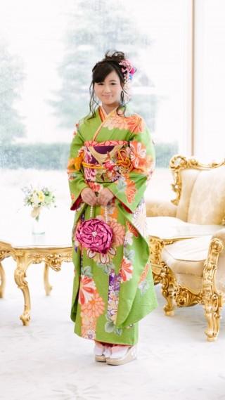 月・京モダン緑の衣装画像2
