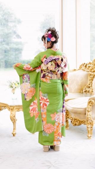 月・京モダン緑の衣装画像3