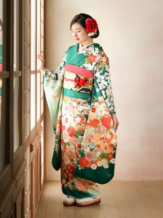 【IKKO FURISODE】〜モダングリーン〜の衣装画像1