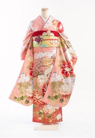キュートで元気なピンクの振袖入荷!の衣装画像1