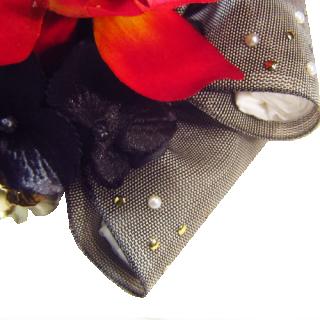 胡蝶蘭とリボンの髪飾りの衣装画像2