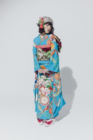 華乱 中縹の華(青色)の衣装画像1