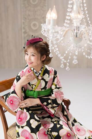 ◆花柄振袖-黒-◆の衣装画像3