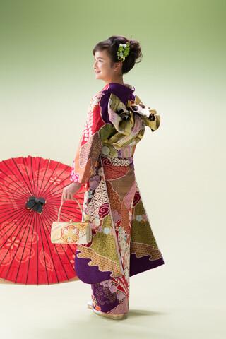 ◆花柄振袖-紫-◆