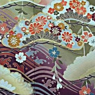 2015年成人式振袖レンタル 商品番号164 抹茶青海紫ぼかし 39,800円の衣装画像2