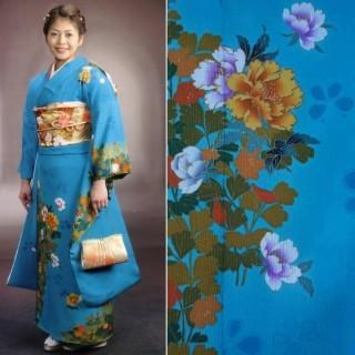 2015年成人式振袖レンタル 商品番号201 水色花柄 29,800円の衣装画像1