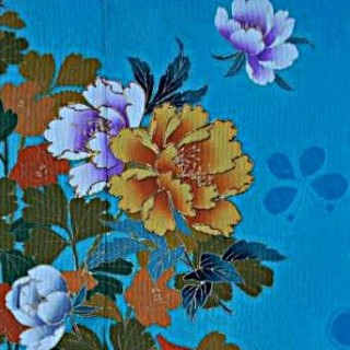 2015年成人式振袖レンタル 商品番号201 水色花柄 29,800円の衣装画像2