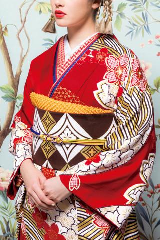 【県内BLANCHEのみ取り扱い】 J・ROSSO 紅×茶金流水 桜柄