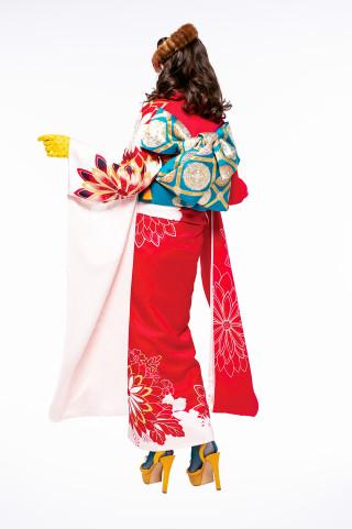 J・ROSSO 最新作/青森県内BLANCHEのみ取扱い レディRED×PINK バイカラーの衣装画像2