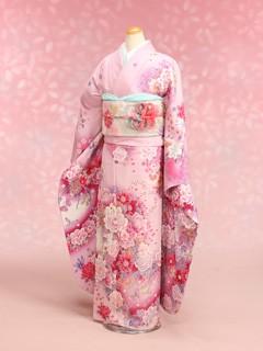 中振袖、ピンクの衣装画像1