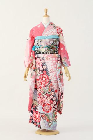 蝶桜ピンク振袖