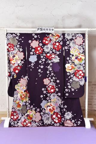 紫 古典 着物の衣装画像1