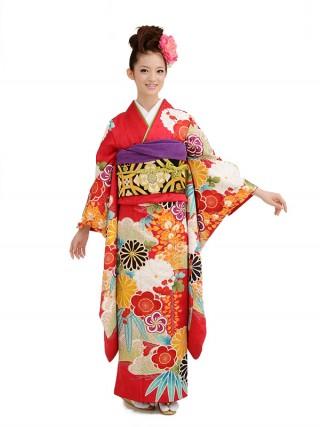 「山本寛斎」新作花柄振袖の衣装画像1