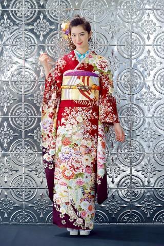 華やかレッド×日本の伝統柄【Shine 114】の衣装画像1