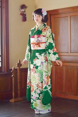 きれいめグリーンは今年の一押しカラー【Karen-2813】の衣装画像1