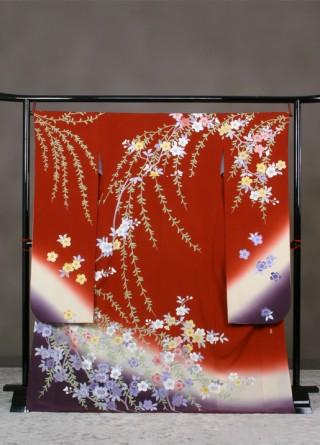 しだれ桜(正絹)