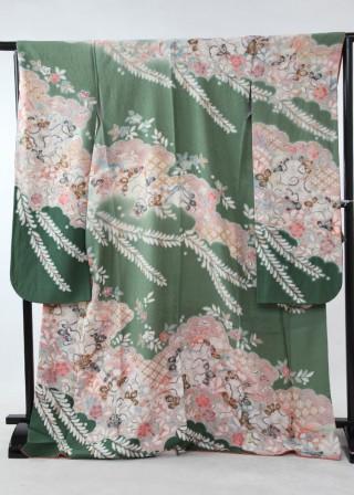 御振袖 緑の衣装画像2