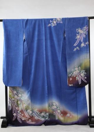 御振袖 青 紺の衣装画像2