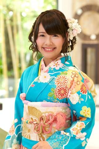 鮮やか空色に金彩雪輪と古典四季花【MK-702】の衣装画像3
