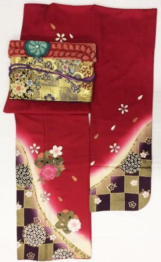 《レンタル》赤×市松