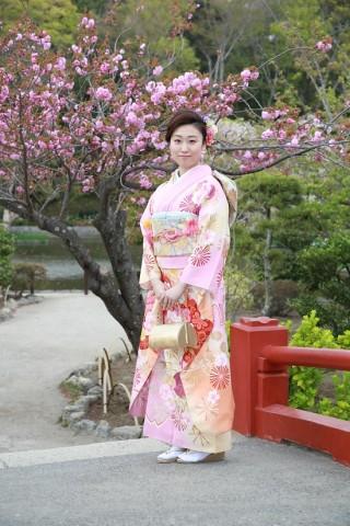 0703569 ピンクオレンジ暈し 桜 ラメ入り