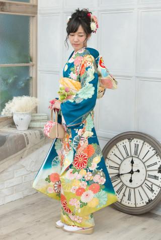 舞ひめ MB155 グリーンヒワ糸巻きに菊 Mの衣装画像1