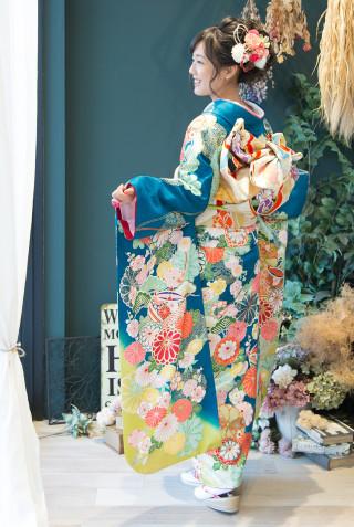 舞ひめ MB155 グリーンヒワ糸巻きに菊 Mの衣装画像3
