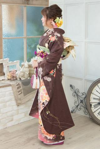 ブラウン花コレクション M