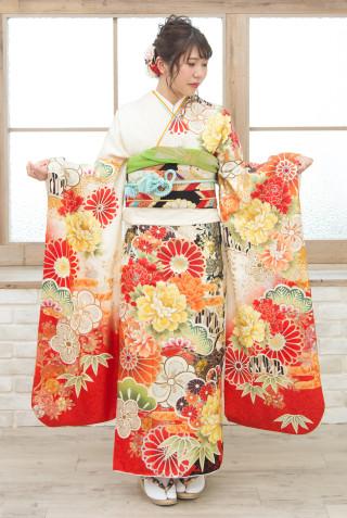 ROLA R-403 ベージュ菊花繚乱金彩 Mの衣装画像2
