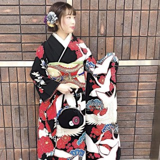 2020年 振袖レンタル(鶴と牡丹)