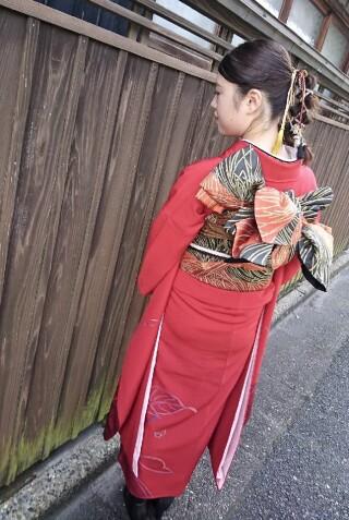 No124 赤地芍薬の衣装画像3